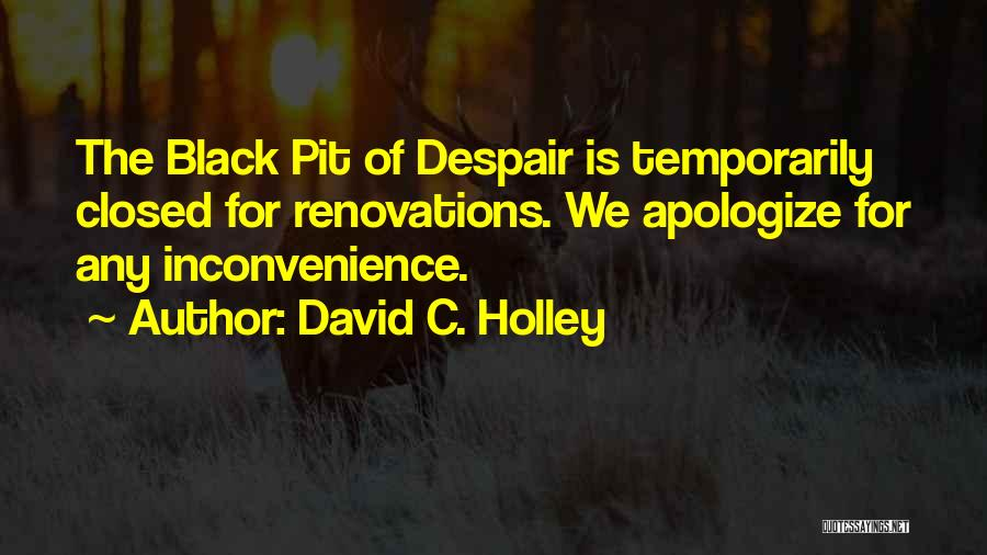 Pit Of Despair Quotes By David C. Holley
