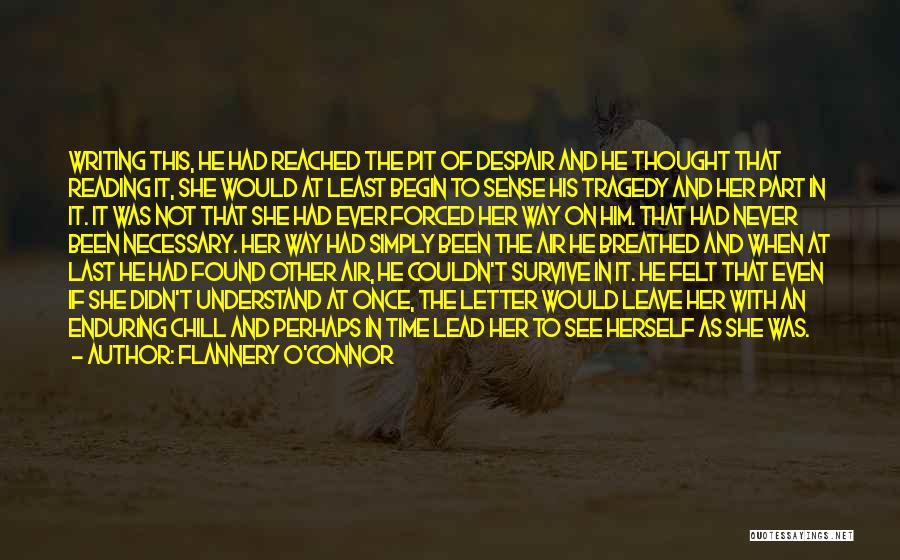 Pit Of Despair Quotes By Flannery O'Connor