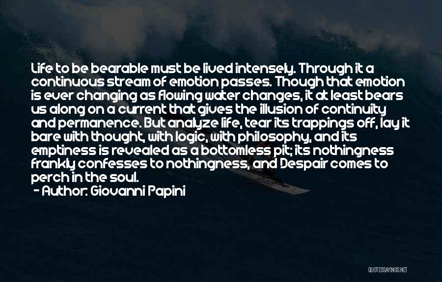 Pit Of Despair Quotes By Giovanni Papini