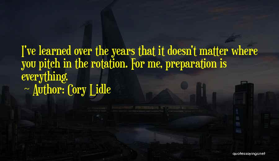 Pitch Quotes By Cory Lidle
