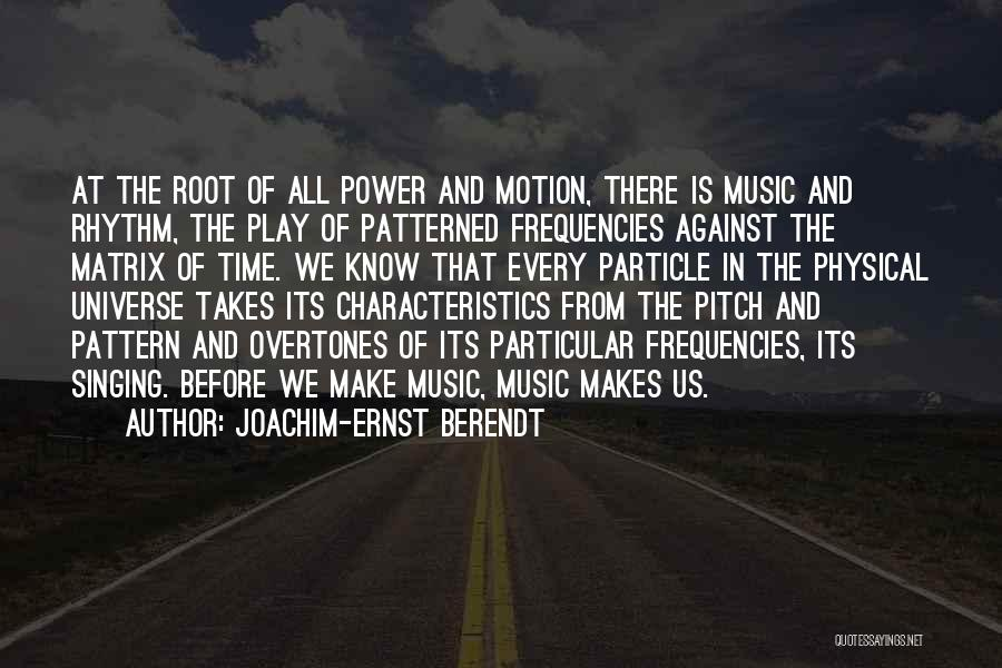 Pitch Quotes By Joachim-Ernst Berendt