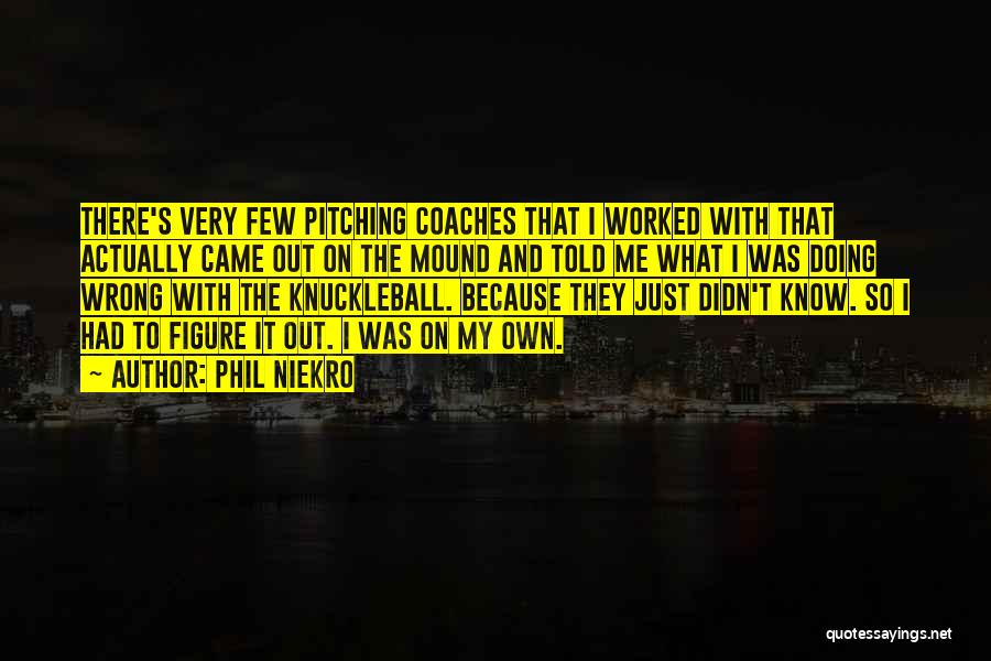 Pitching Mound Quotes By Phil Niekro