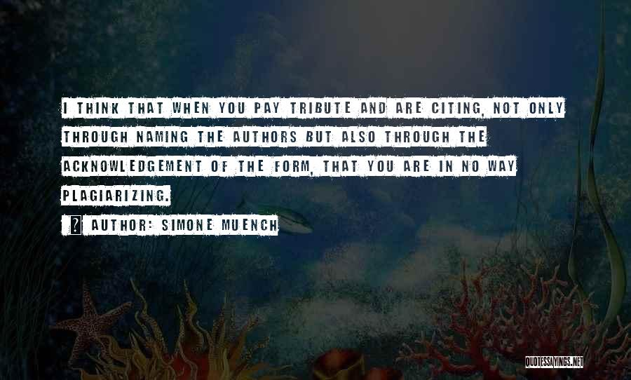 Plagiarizing Quotes By Simone Muench