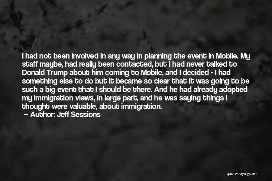 Planning An Event Quotes By Jeff Sessions