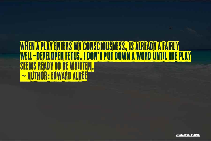 Play Fairly Quotes By Edward Albee