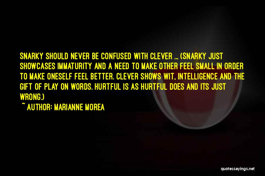 Play On Words Quotes By Marianne Morea