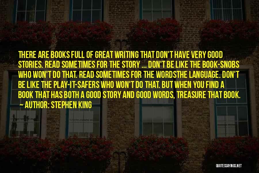Play On Words Quotes By Stephen King