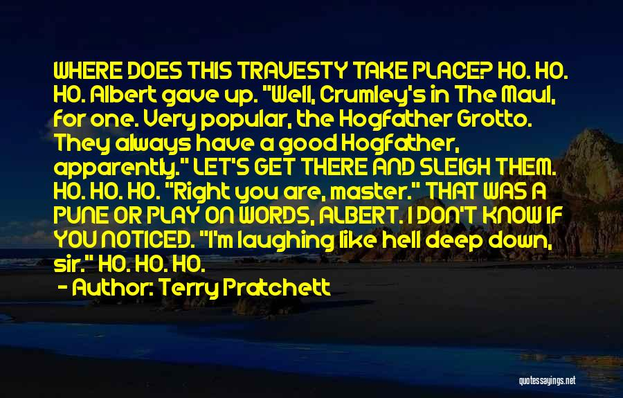 Play On Words Quotes By Terry Pratchett