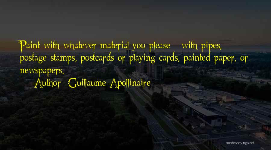 Playing Cards Quotes By Guillaume Apollinaire