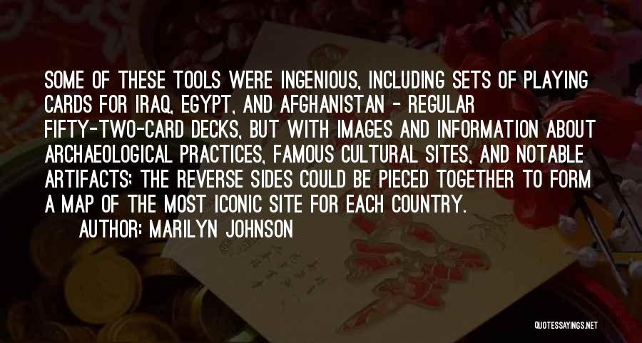 Playing Cards Quotes By Marilyn Johnson