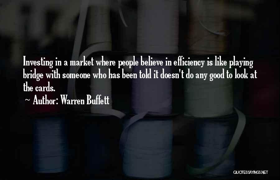 Playing Cards Quotes By Warren Buffett
