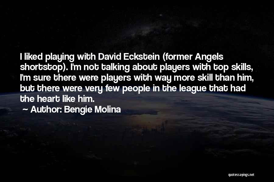 Playing Shortstop Quotes By Bengie Molina