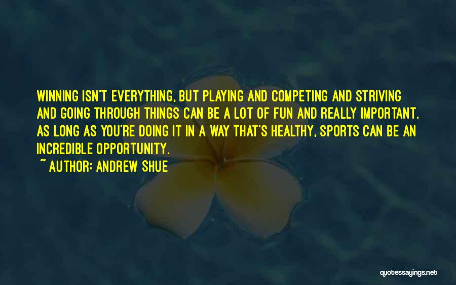 Playing Sports For Fun Quotes By Andrew Shue