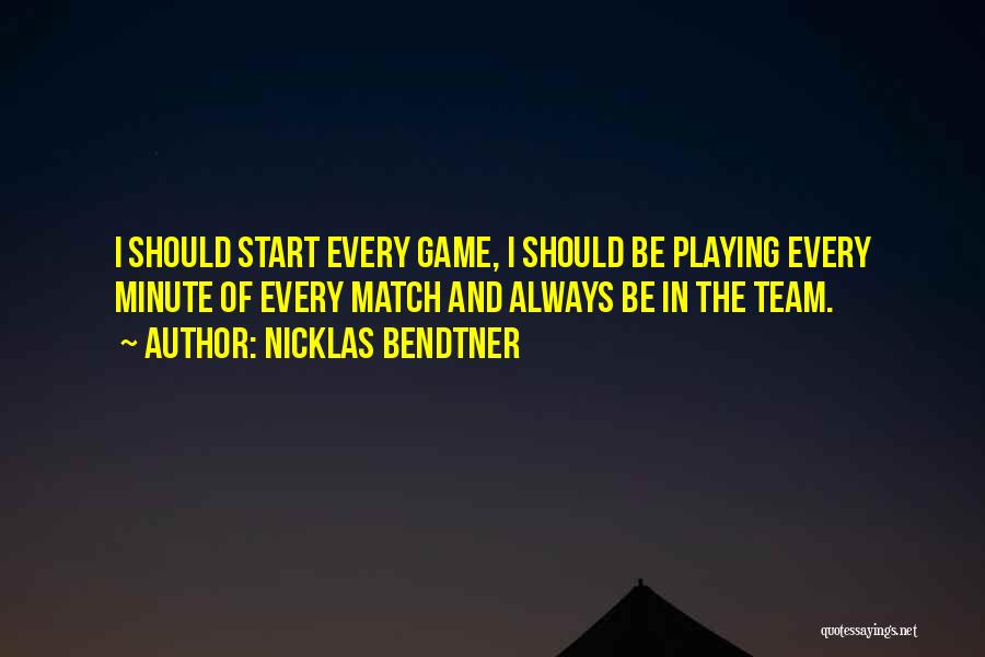 Playing The Game Quotes By Nicklas Bendtner