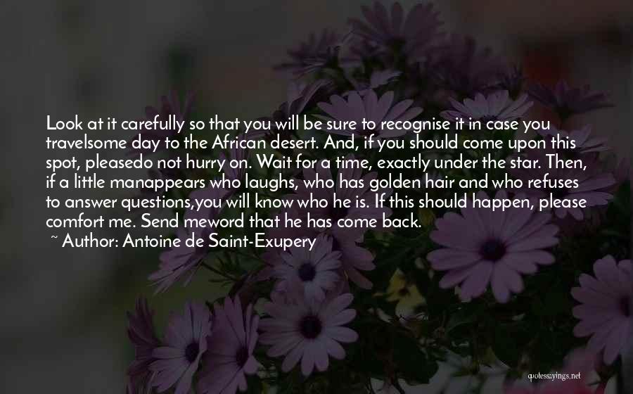 Please Come Back To Me Quotes By Antoine De Saint-Exupery
