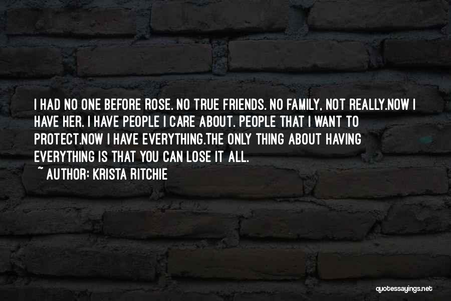 Please Protect My Family Quotes By Krista Ritchie