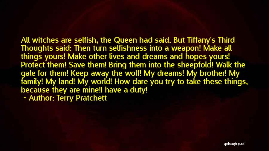 Please Protect My Family Quotes By Terry Pratchett