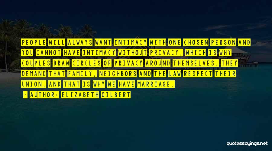Please Respect My Privacy Quotes By Elizabeth Gilbert