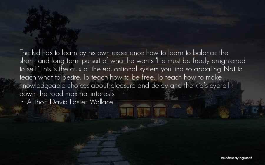 Pleasure And Desire Quotes By David Foster Wallace