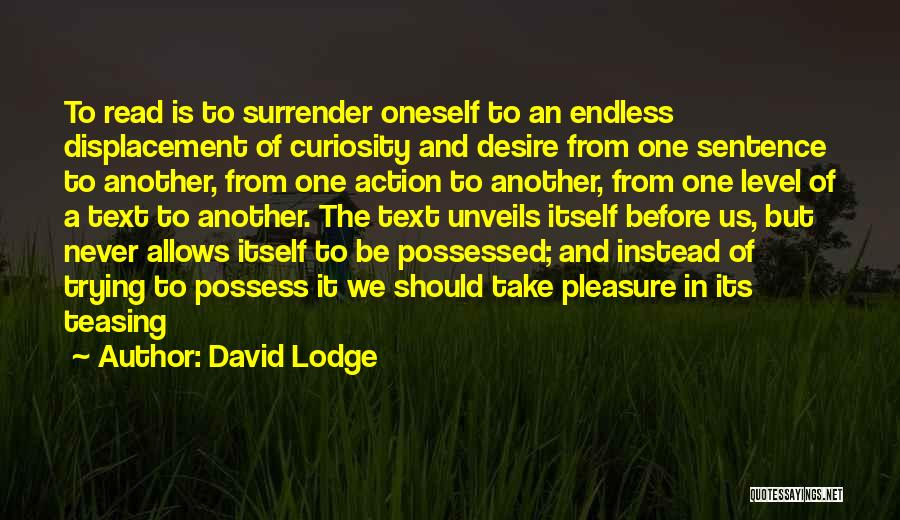 Pleasure And Desire Quotes By David Lodge