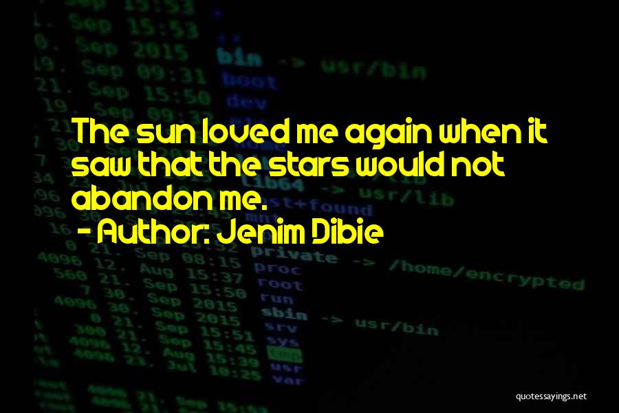 Poetry Books Quotes By Jenim Dibie