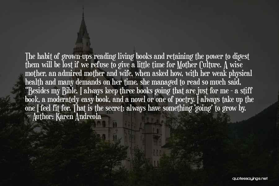 Poetry Books Quotes By Karen Andreola
