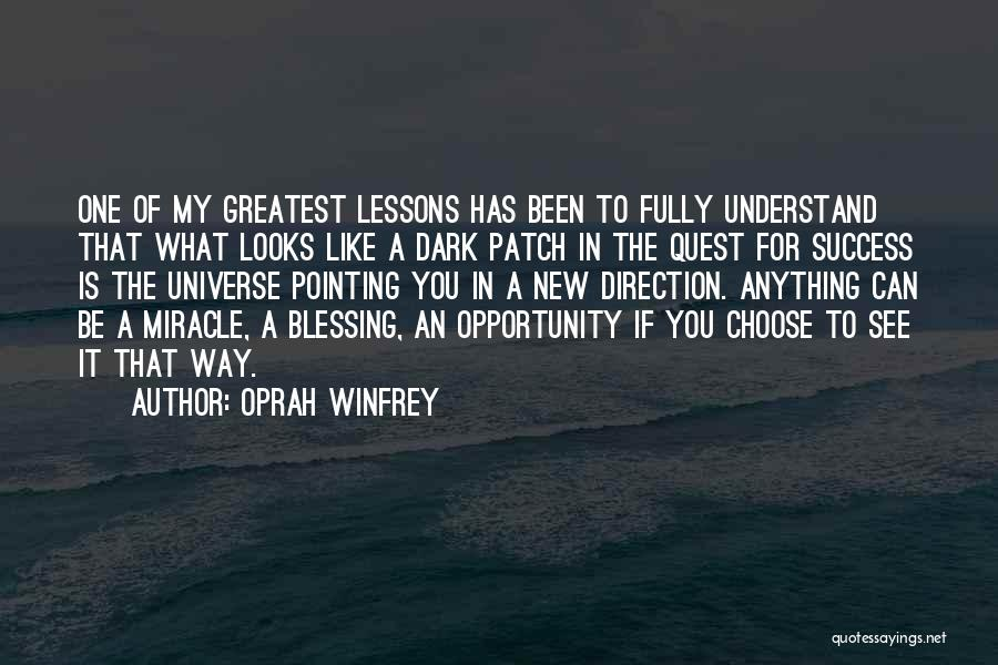 Pointing The Way Quotes By Oprah Winfrey