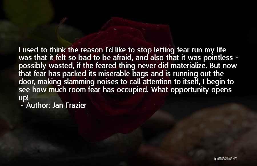 Pointless Life Quotes By Jan Frazier