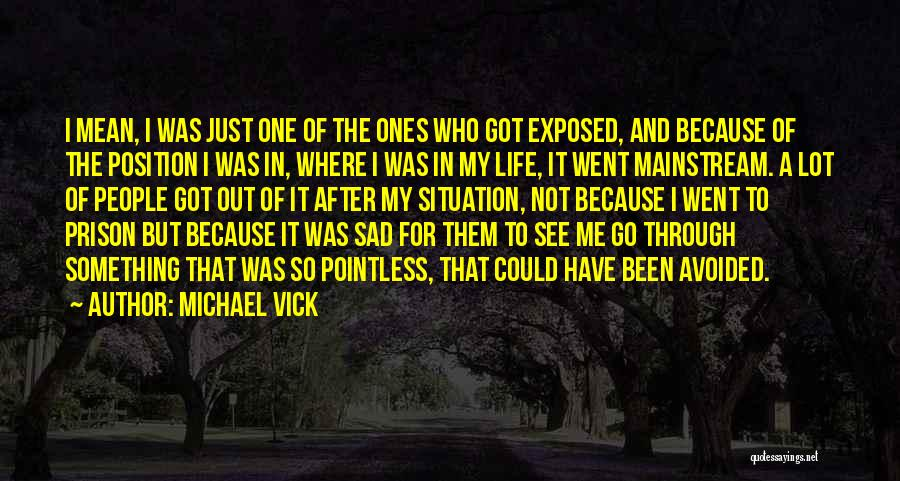 Pointless Life Quotes By Michael Vick