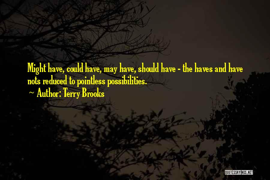 Pointless Life Quotes By Terry Brooks