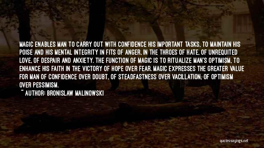 Poise And Confidence Quotes By Bronislaw Malinowski