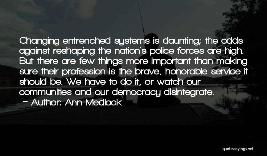 Police Bravery Quotes By Ann Medlock