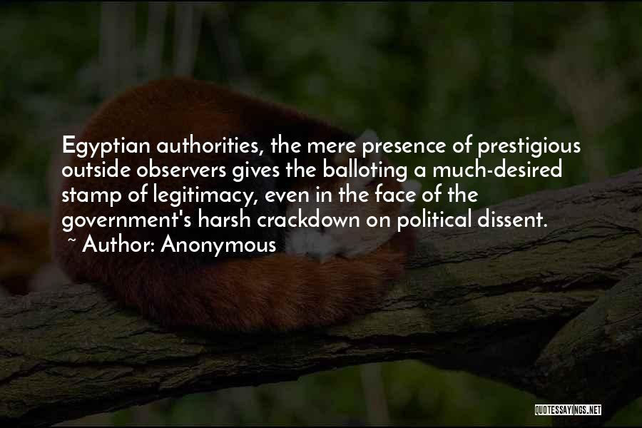 Political Dissent Quotes By Anonymous