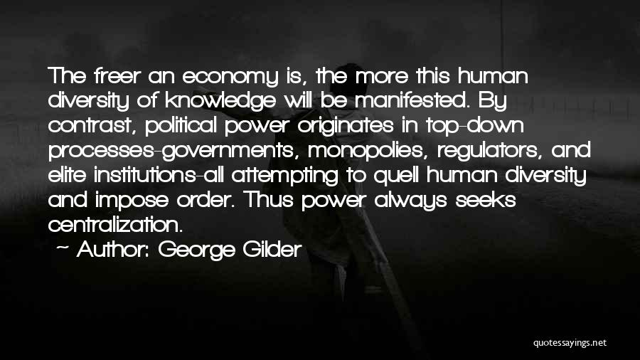 Political Elite Quotes By George Gilder