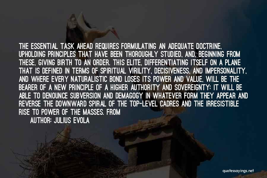 Political Elite Quotes By Julius Evola