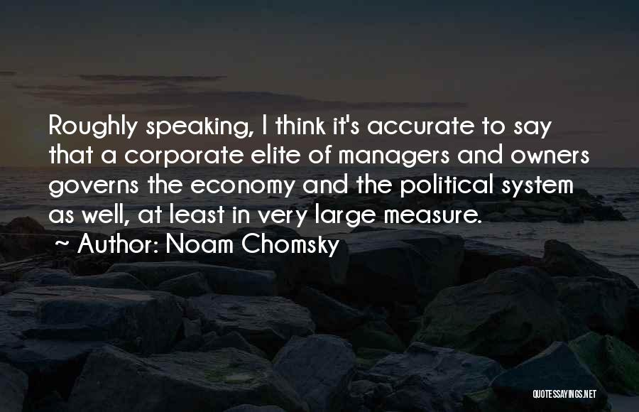Political Elite Quotes By Noam Chomsky