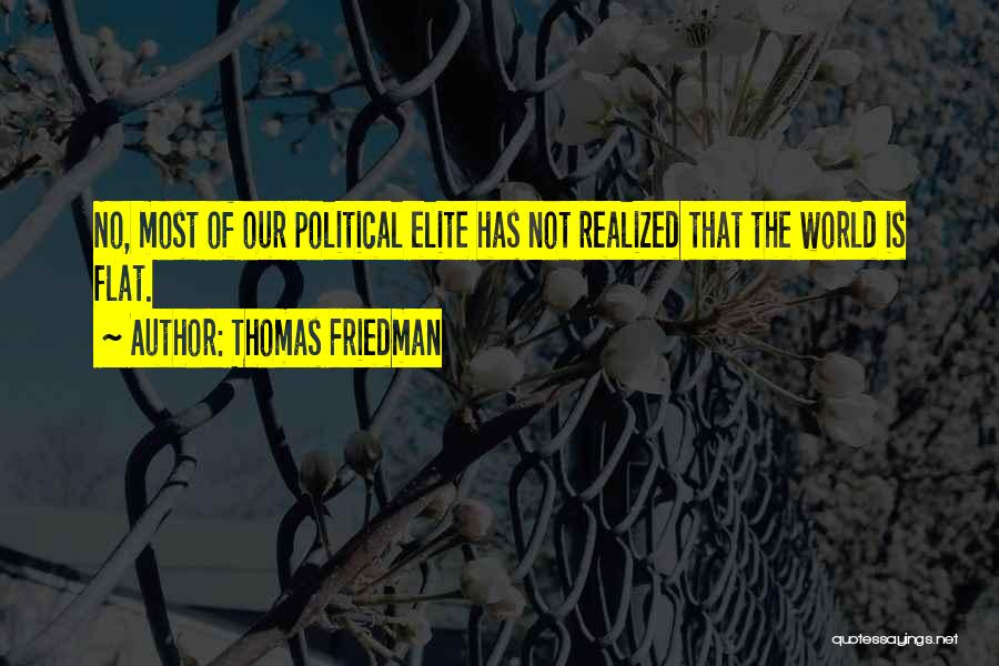 Political Elite Quotes By Thomas Friedman