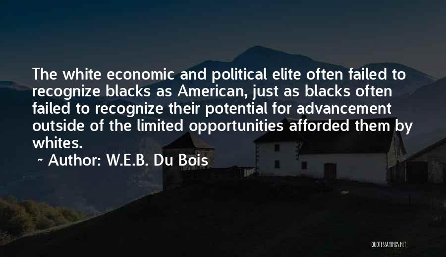 Political Elite Quotes By W.E.B. Du Bois