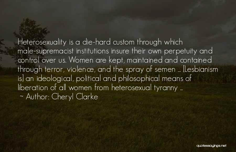 Political Lesbianism Quotes By Cheryl Clarke
