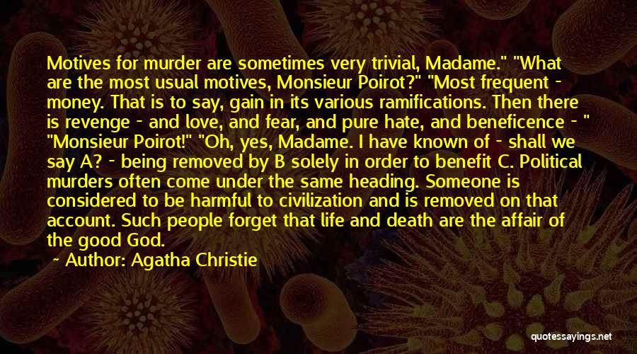 Political Murders Quotes By Agatha Christie