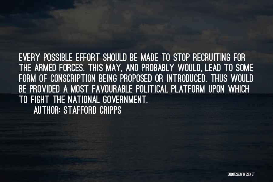 Political Platform Quotes By Stafford Cripps