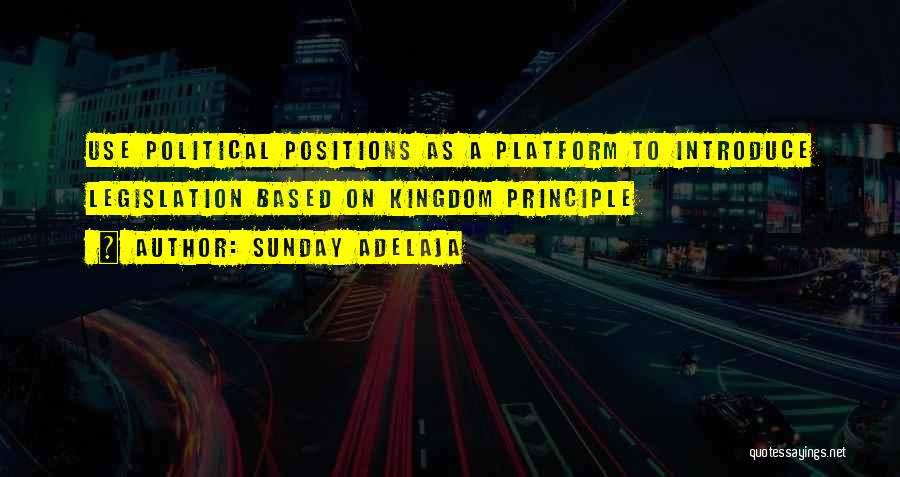 Political Platform Quotes By Sunday Adelaja