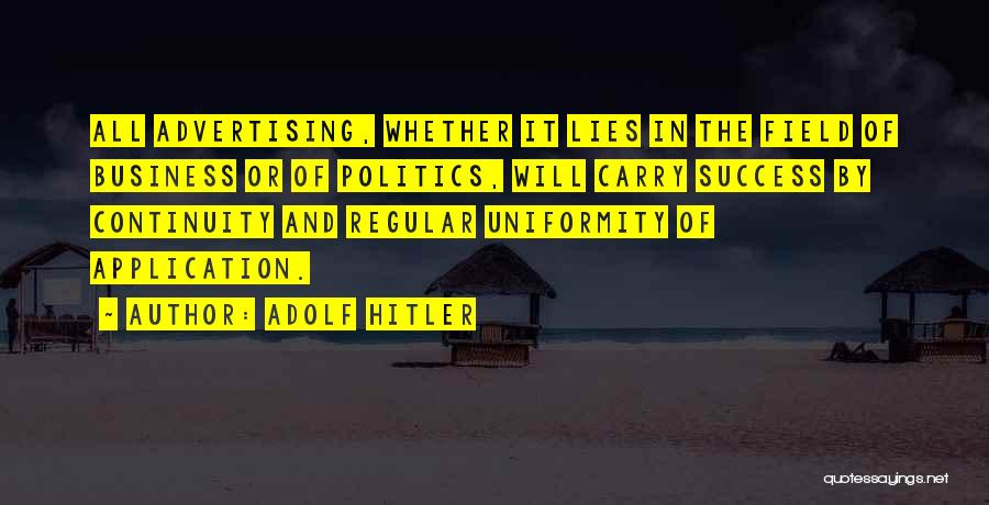 Politics And Lies Quotes By Adolf Hitler