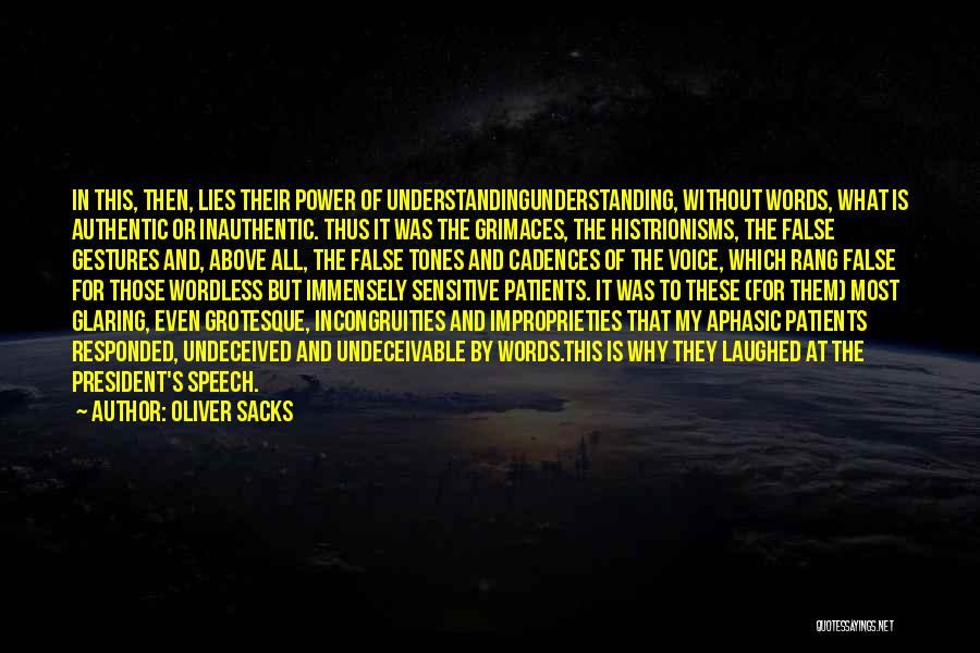 Politics And Lies Quotes By Oliver Sacks