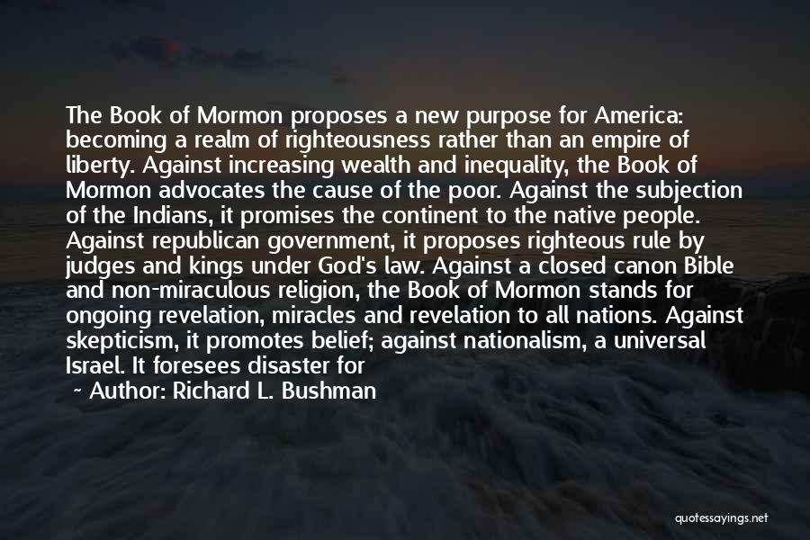 Politics In The Bible Quotes By Richard L. Bushman