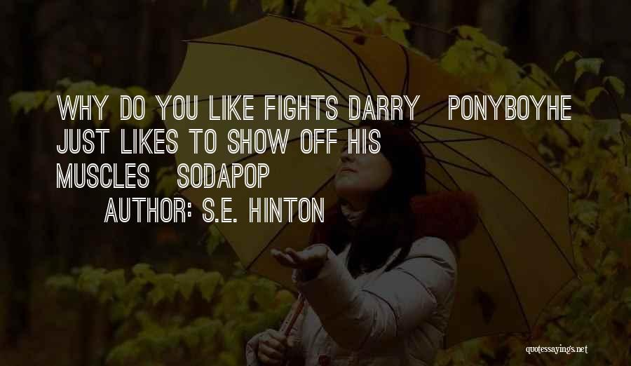 Ponyboy And Darry Quotes By S.E. Hinton