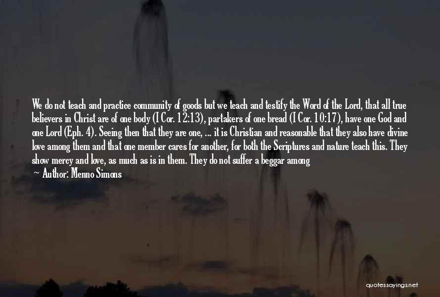 Poor Beggar Quotes By Menno Simons