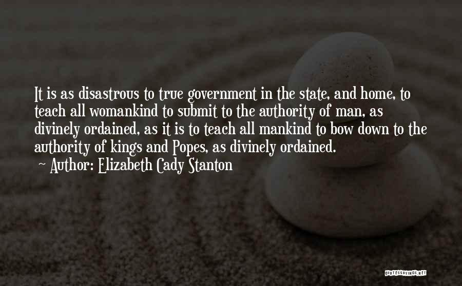 Popes Quotes By Elizabeth Cady Stanton