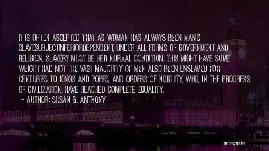Popes Quotes By Susan B. Anthony