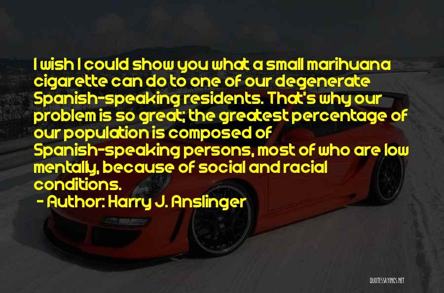 Population Problem Quotes By Harry J. Anslinger